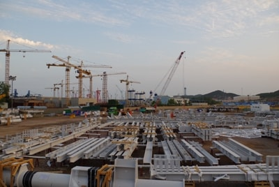 Qingdao China onsite project packing yard