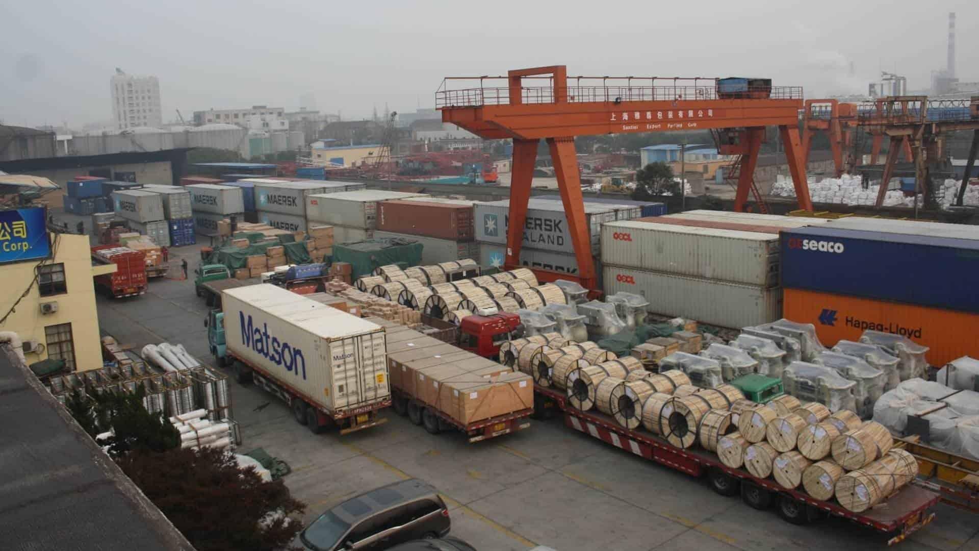 China Export Packing Warehousing and Laydown Yard
